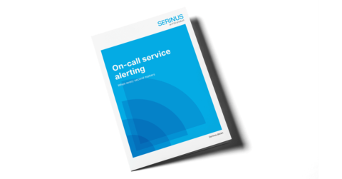 Image of the brochure on on-call service alerting with Serinus